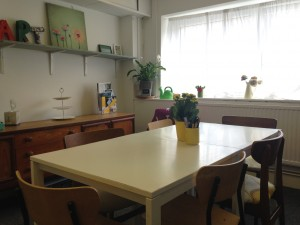 Our cosy meeting room comfortably holds 6, and comes with free Wi-Fi, printing and tea and coffee